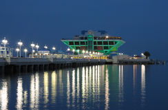 Cais na noite, Florida de St Petersburg Fotografia de Stock Royalty Free