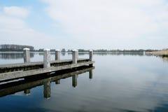 Cais no lago Foto de Stock Royalty Free