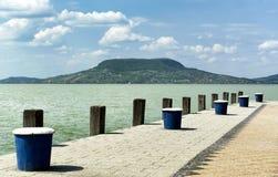 Cais no lago Balaton Foto de Stock Royalty Free