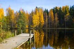 Cais no lakeshore Foto de Stock
