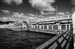 Cais no mar Báltico, Gdansk, Polônia Foto de Stock Royalty Free