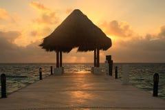 Cais no nascer do sol Foto de Stock