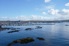 Cais no Oceano Atlântico, Europa Foto de Stock Royalty Free