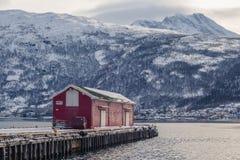 Cais no porto de Narvik foto de stock royalty free