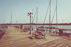 Cais no porto - del Sacramento de Colonia, Uruguai foto de stock royalty free