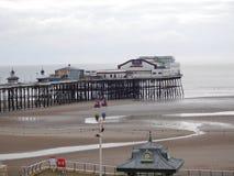Cais norte de Blackpool de nossa sala de hotel Fotografia de Stock Royalty Free