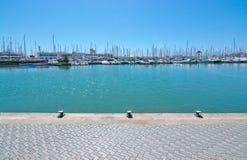 Cais perto do porto Foto de Stock Royalty Free