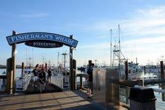 Cais Steveston de Fishermans fotos de stock royalty free