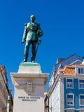 Cais tun Sodre-Ansicht in Lissabon, Portugal lizenzfreies stockbild
