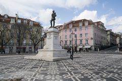 Cais tun Sodre in Lissabon lizenzfreie stockbilder