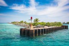 Cais velho, Maldivas fotos de stock