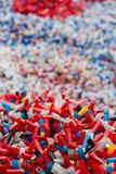 Caisse épuisée colorée de la formation sportive Image libre de droits