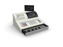 Caisse comptable Photos stock