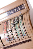 Caisse comptable ancienne Photo stock