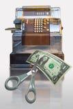 Caisse comptable de vente Photographie stock