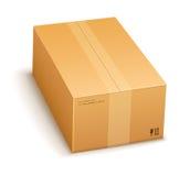 Caisse d'emballage de carton fermée Images stock