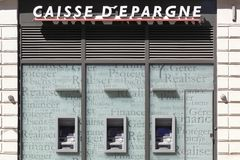 Caisse d`epargne building and agency. Lyon, France - July 3, 2016: Caisse d`epargne building and agency. Caisse d`epargne is a French semi cooperative banking Royalty Free Stock Photos
