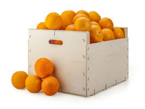 Caisse d'oranges Photos stock