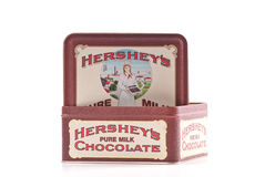 Caisse de bidon de Hershey Photographie stock