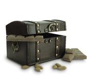 Caisse de chocolat Image stock