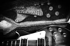 Caisse de guitare Photo stock