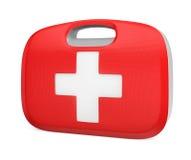 Caisse de kit de premiers secours avec le chemin de coupure Images stock