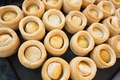 Caisse de pâtisserie de vol-au-vent Photographie stock libre de droits