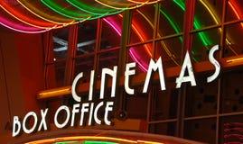 Caisse de salle de cinéma Image stock