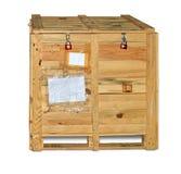 Caisse en bois avec le matériel Images stock