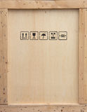 Caisse en bois d'expédition Image stock