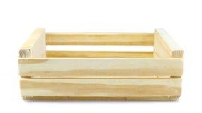 Caisse en bois vide d'isolement sur le blanc Photo stock