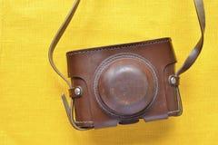 Caisse en cuir de cru Photo libre de droits