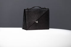 Caisse en cuir noire Photo libre de droits