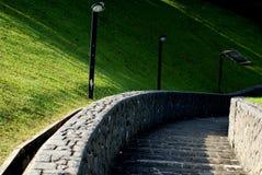 Caisse en pierre d'escalier Image stock