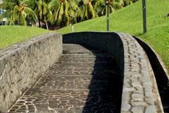 Caisse en pierre d'escalier Photographie stock libre de droits