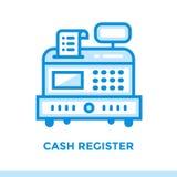 CAISSE ENREGISTREUSE linéaire d'icône des finances, encaissant Approprié au mobi Images libres de droits