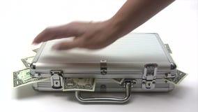 Caisse fermante d'argent banque de vidéos