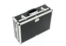 Caisse noire avec des loquets en métal Photographie stock