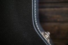 Caisse noire de guitare Photo libre de droits