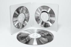 Caisse pour le mini CD Couleurs noires et blanches Photographie stock