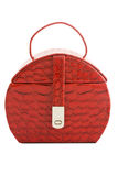 Caisse rouge de beauté Photographie stock libre de droits