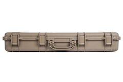Caisse sûre molle d'entreposage en boîte de mitrailleuse d'isolement Photographie stock