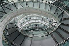 Caisse spiralée d'escalier Photo stock