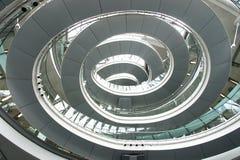 Caisse spiralée d'escalier Photo libre de droits