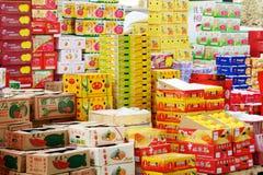 Caisses d'emballage de fruit Image libre de droits