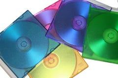Caisses de CD de couleur Image libre de droits