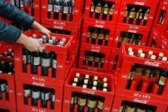 Caisses de Coca Cola image libre de droits