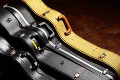 Caisses de guitare Photo libre de droits
