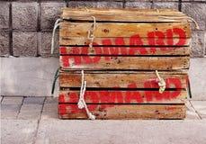 Caisses de langoustine Image libre de droits