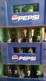 Caisses de Pepsi image stock
